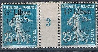 1924-25 Gd Liban 1 P. on 25c Millenismes 3 310929431953