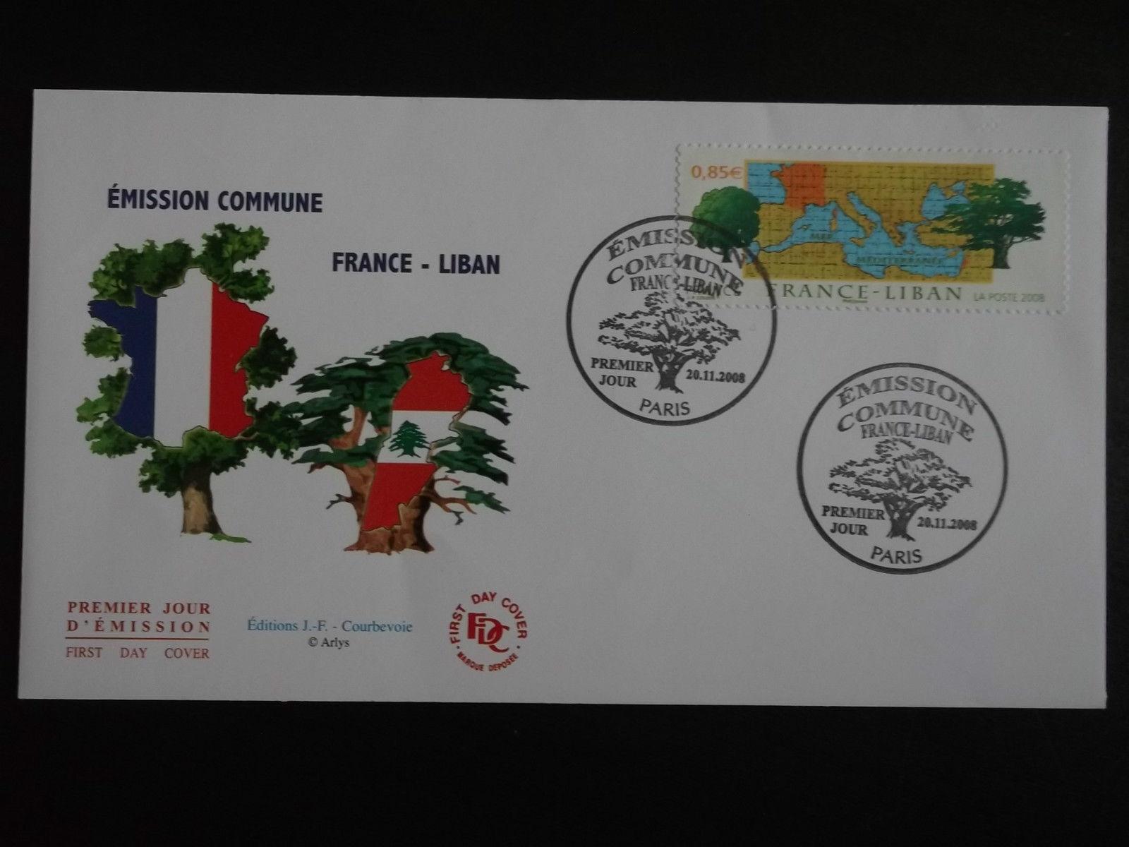 2008.11.20 FDC Enveloppe Premier Jour Emission Commune France-Liban 201085380552