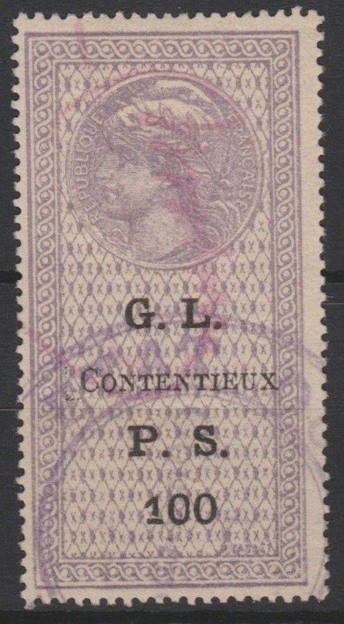 1922 Legal Matters in Dispute PS 100 DD F3