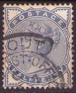 0.5 penny Victoria Blue précurseur