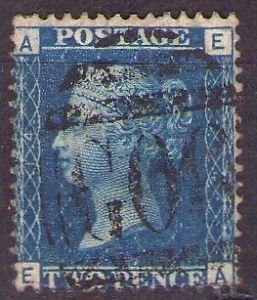 2 penny AE Dark Blue Victoria bust G06