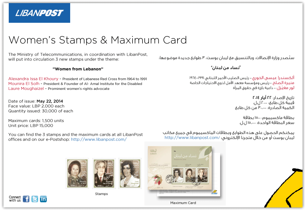 Women's Stamps and Maximum Card